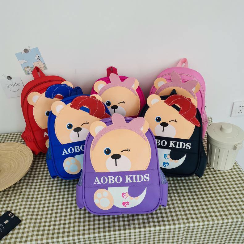 外贸批发卡通小熊儿童双肩包新款幼儿园书包可爱男女童小背包