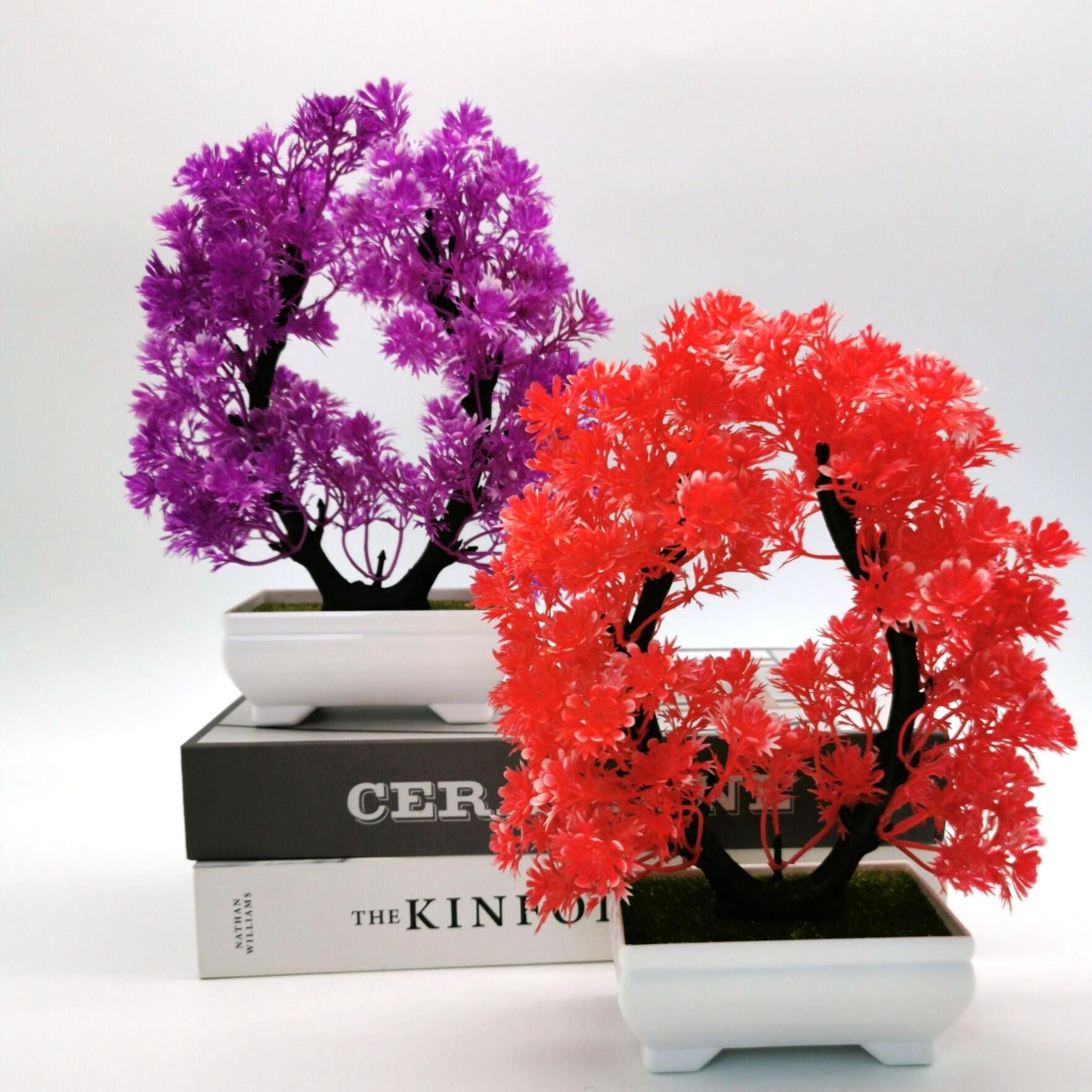 批发仿真盆景盆栽塑料u型雅菊盆栽绿植创意桌面摆件室内装饰摆设
