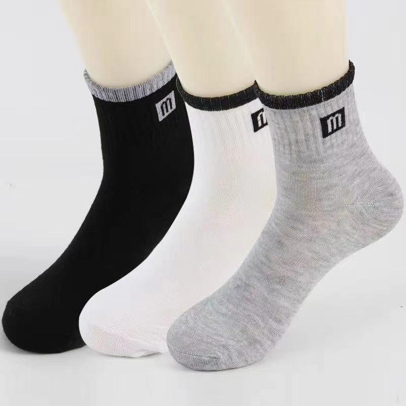 男女外贸涤棉袜舒适耐穿长短袜厂家直销49