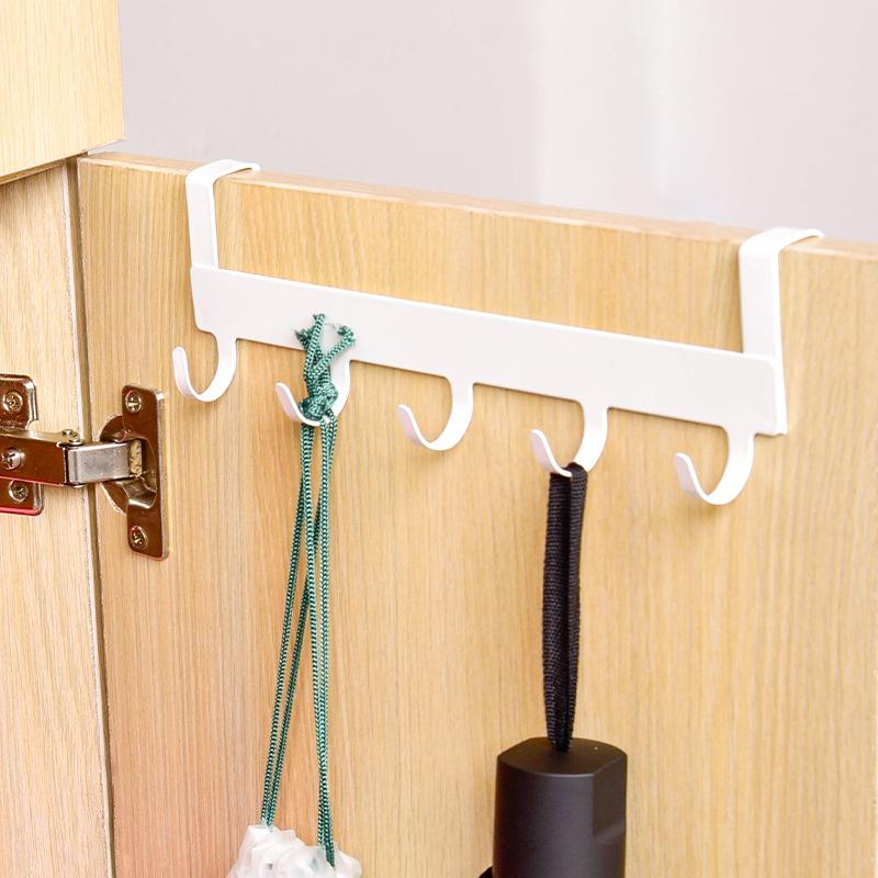 门后挂钩免打孔壁挂置物架浴室门背式衣服挂架卧室进门收纳挂衣钩