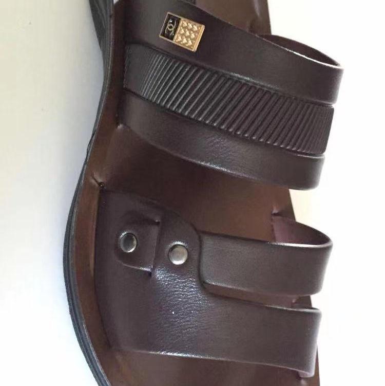 男士凉鞋男鞋夏季室外穿包头洞洞凉拖鞋潮开车一脚蹬沙滩鞋