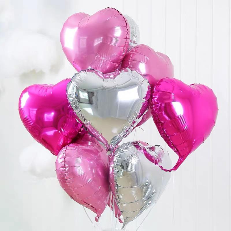 铝膜气球 18寸心形组装8件套装 各种派对节日生日婚庆房间装饰用品 1212店 可订做