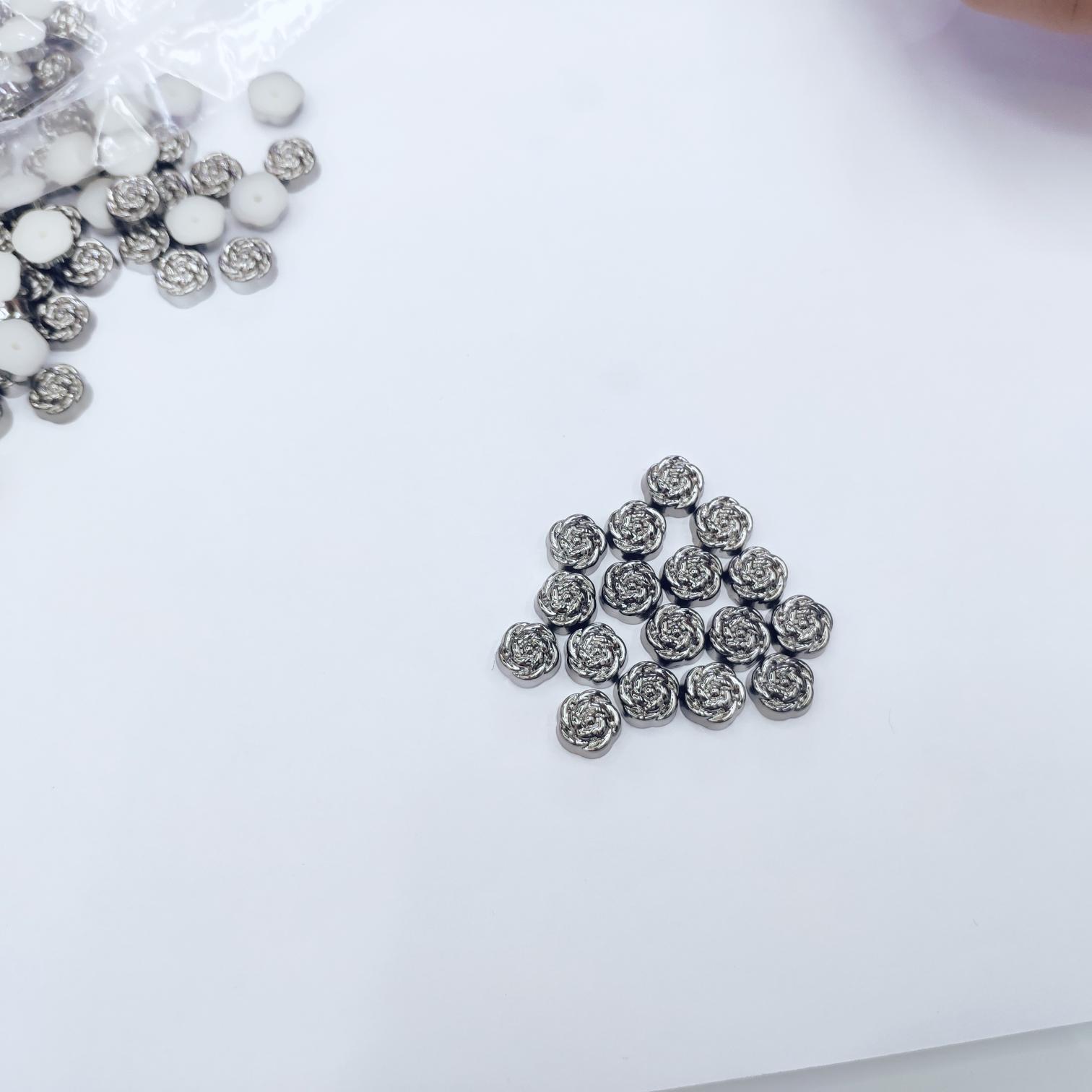 厂家直销 ABS材质撞钉 10mm玫瑰花形铆钉 塑料胶钉 鞋子包包饰品配件