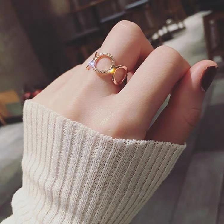 圣.纳黛丽微镶满钻圆戒指上手效果超级棒仙女夏天必备