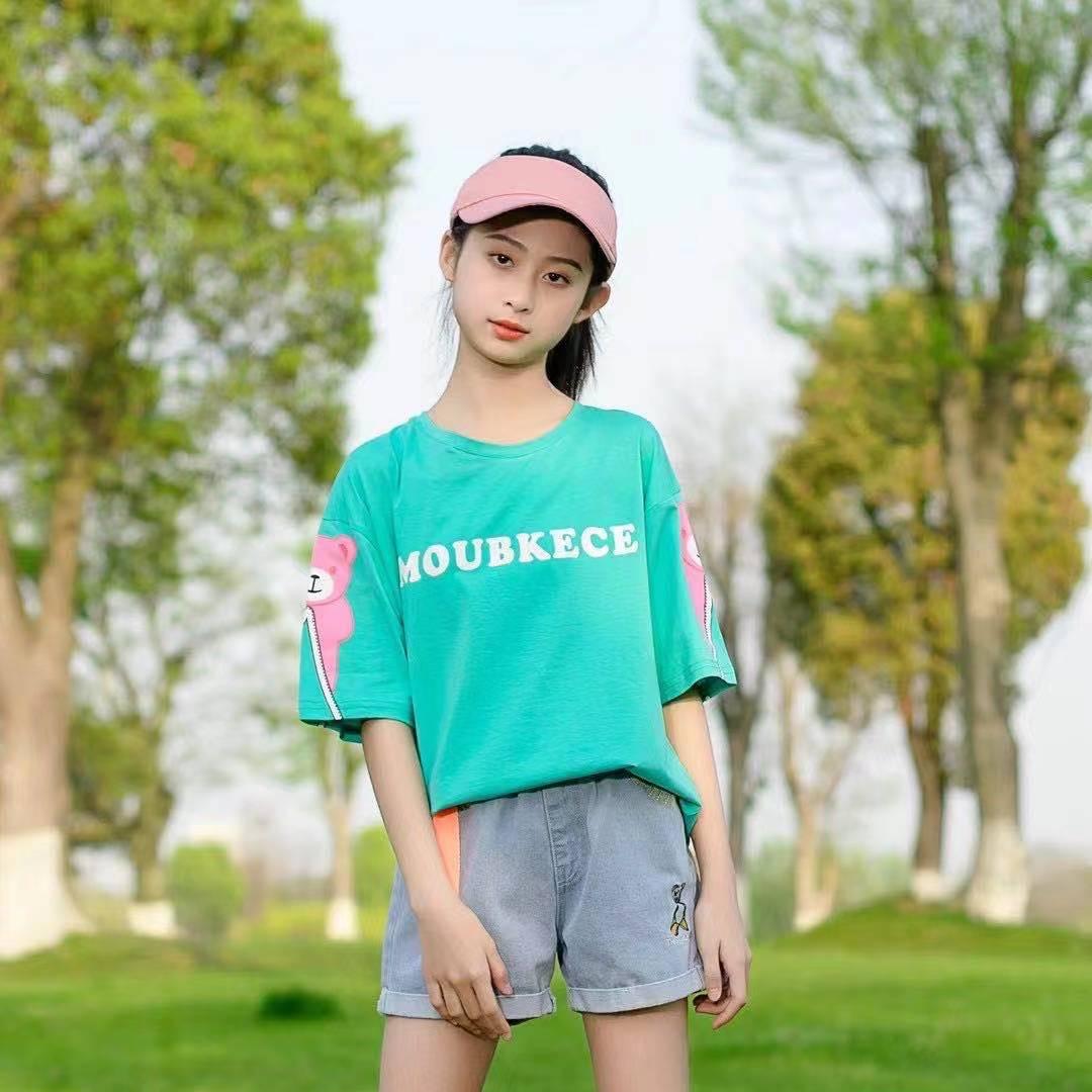 圆领T恤女童夏天款洋气