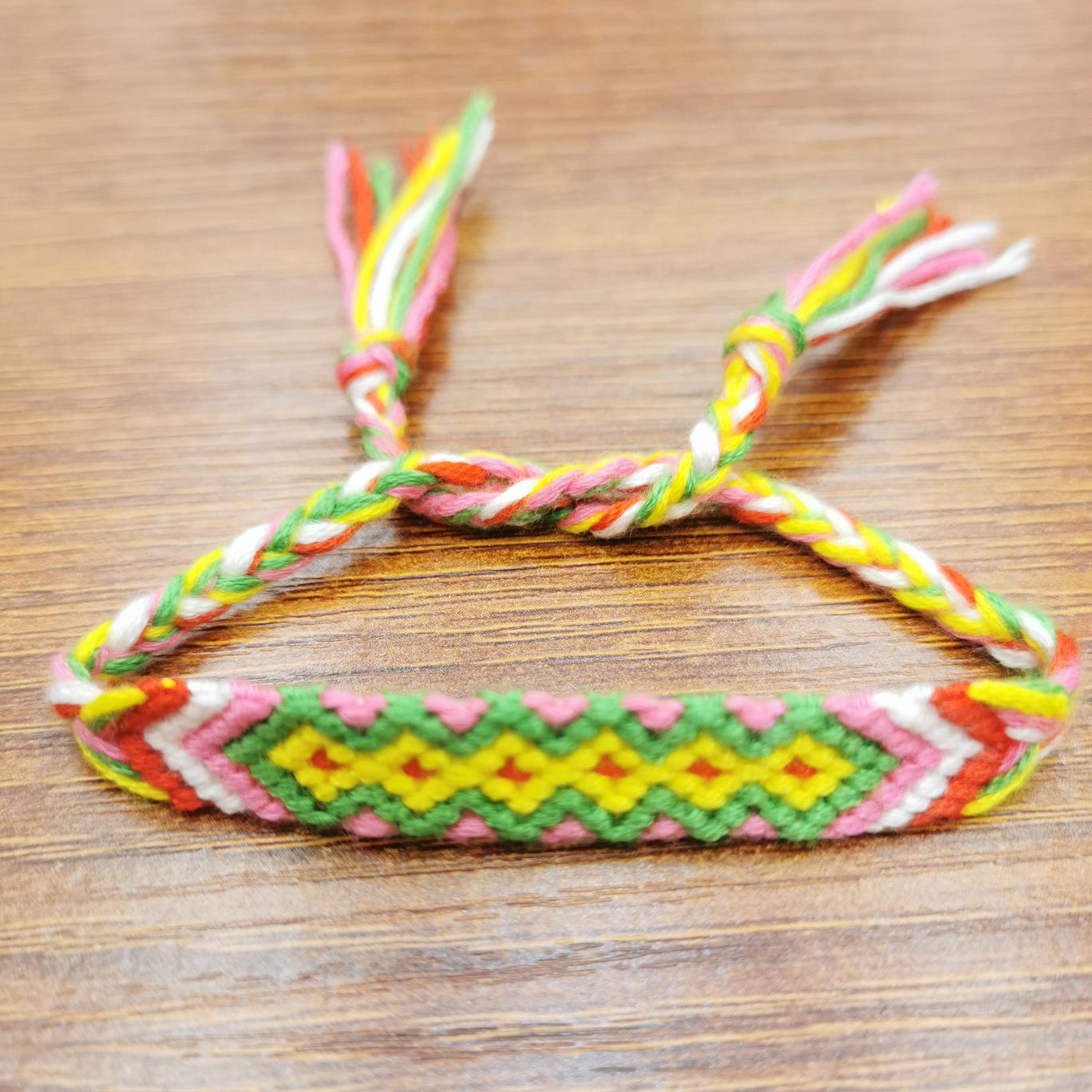 时尚手链欧美尼泊尔编织友谊手链 纯手工编织民族风 波西米亚风编织饰品 短款多色编织手链