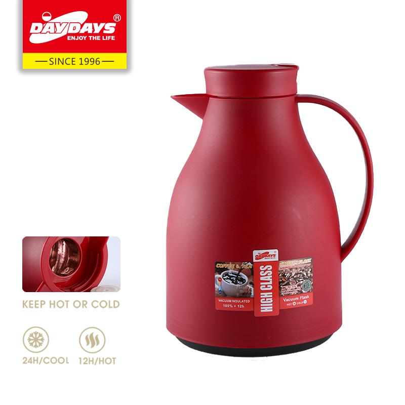 DAYDAYS 龙凤保温瓶1.5L时尚塑料家用玻璃内胆红胆户外车载咖啡壶保温瓶热水瓶暖瓶