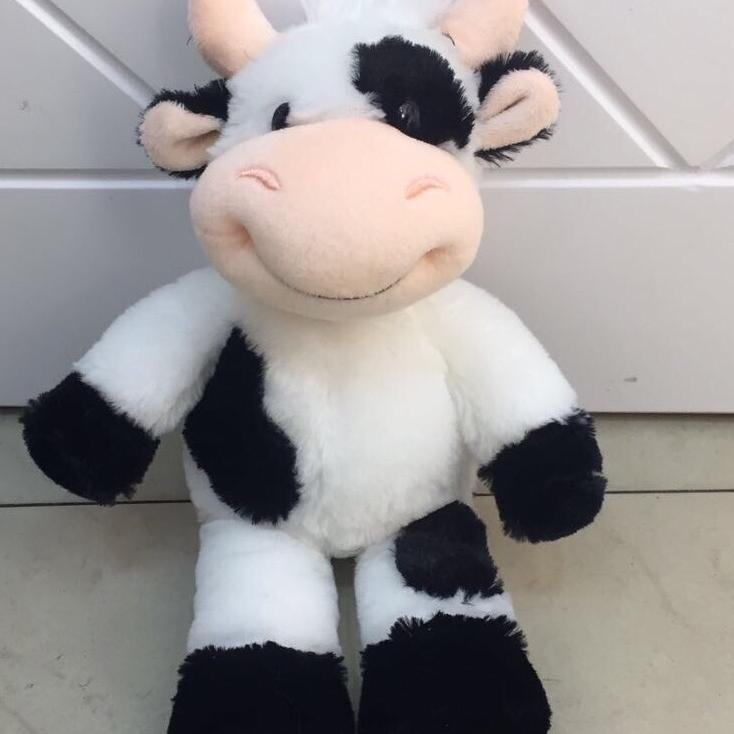 毛绒玩具布娃娃中号卡通黑白奶牛厂家直销