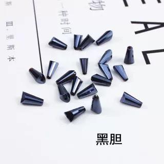 爆款热销人造玻璃水晶电镀彩色直孔4#宝塔珠子创意diy耳环配件材料 10