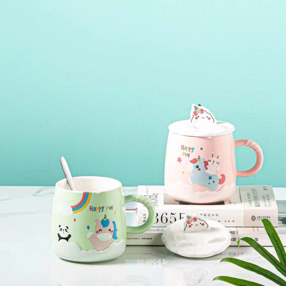 小清新风格陶瓷杯水杯咖啡