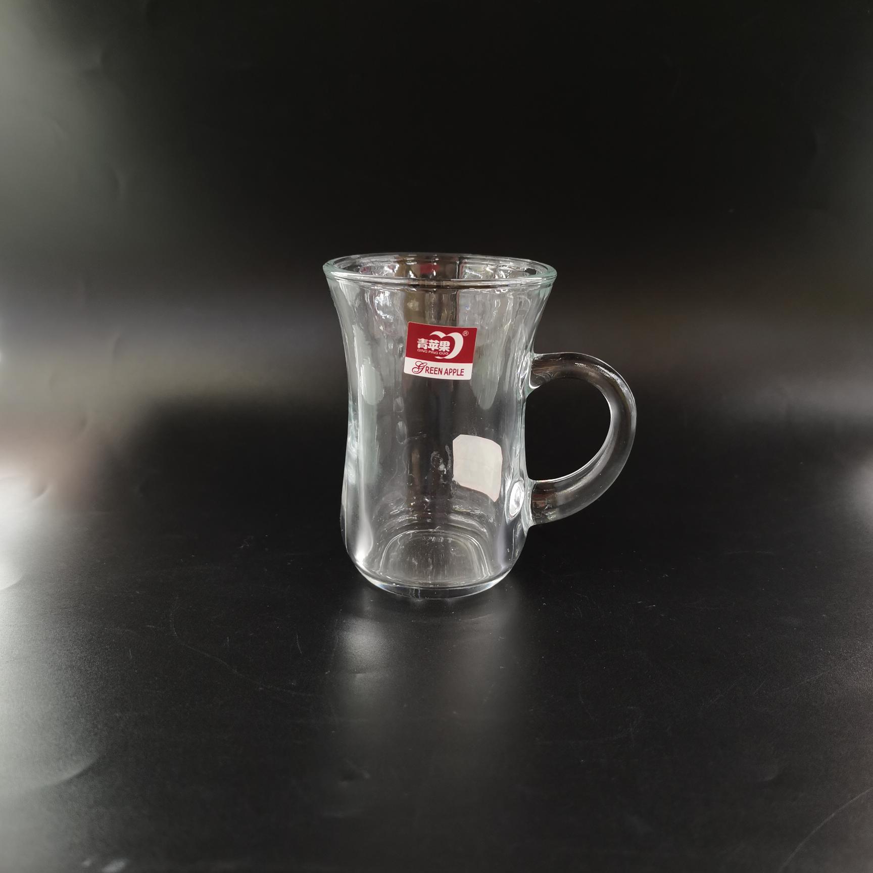 XBD087-1   青苹果手柄葫芦杯