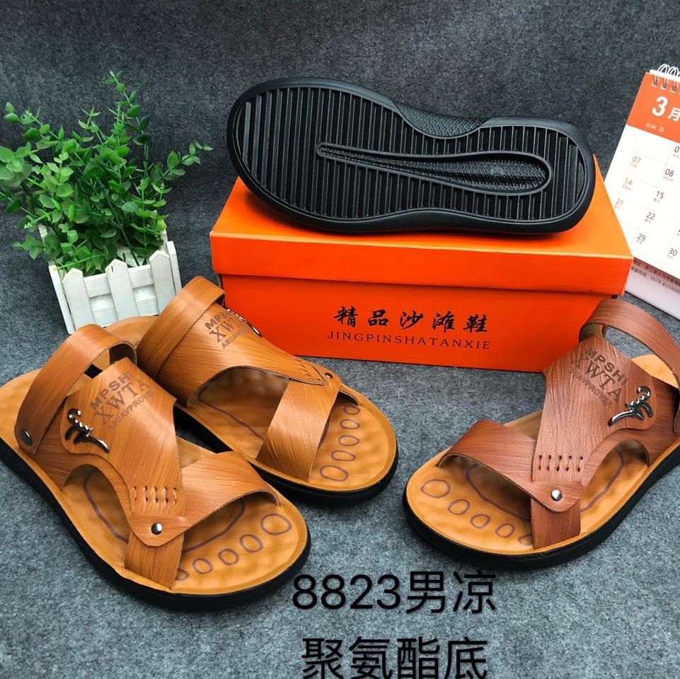 8823男聚氨酯底凉鞋