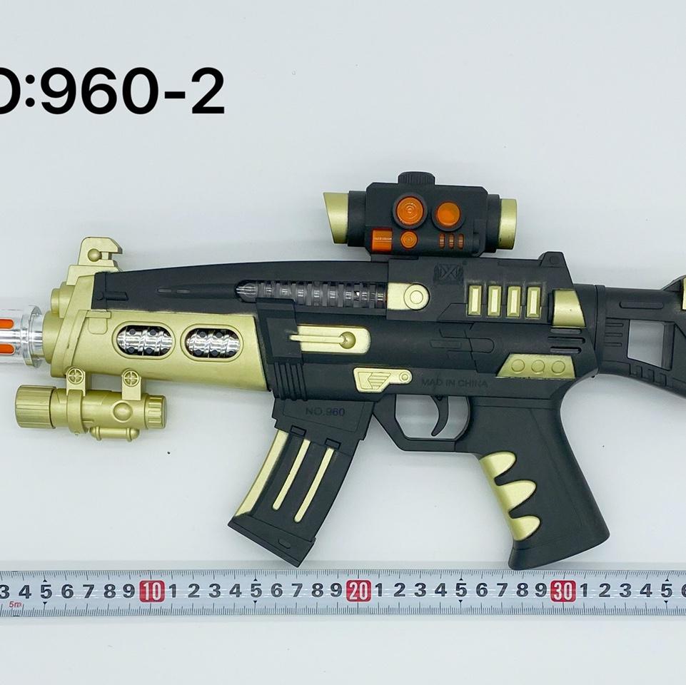 仿真儿童电动玩具枪 声光音乐迷彩冲锋套装 男孩益智电动玩具批发960-2