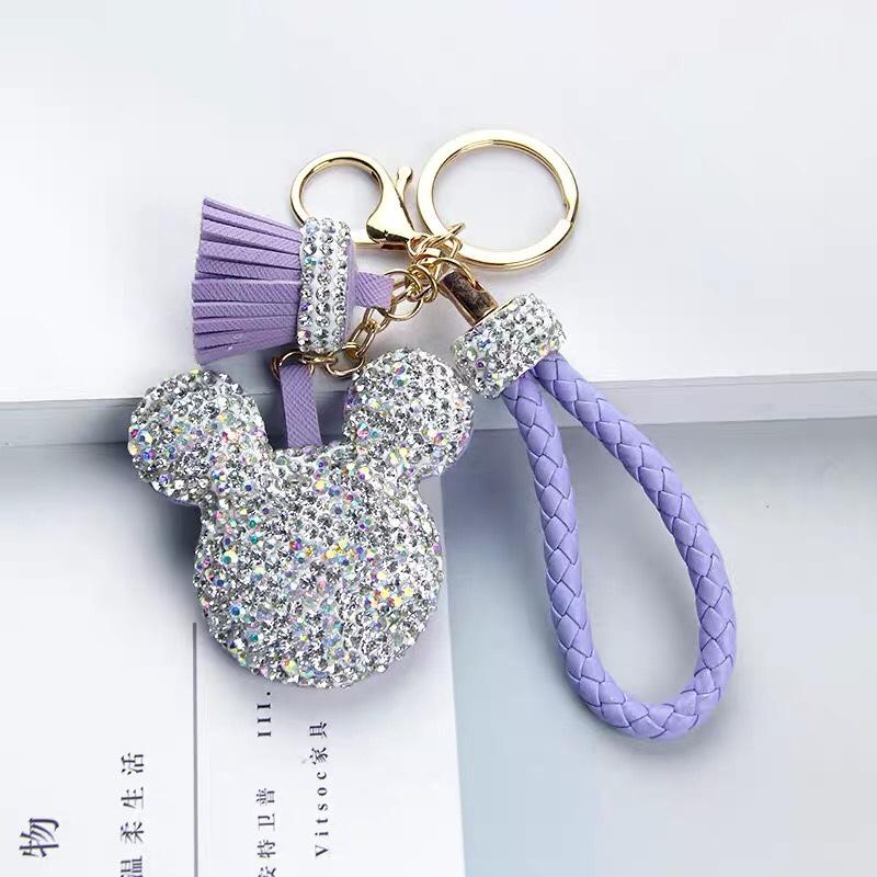 镶钻汽车车钥匙扣挂件女可爱创意高档钥匙链包包装饰挂饰创意礼品