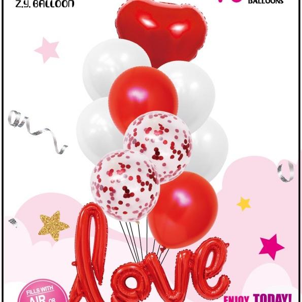 LOVE铝膜气球组合套装 情人节生日婚庆各种派对房间装饰用品 1212店面 多款可选 可订做