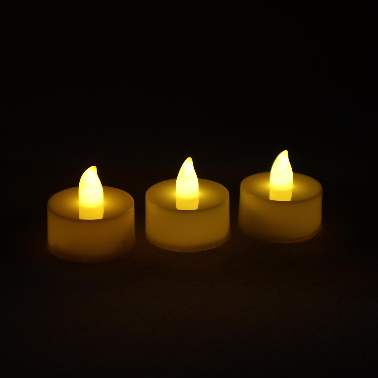 标价为实价低价批发茶蜡LED电子蜡烛灯圆柱形注塑现货黄光
