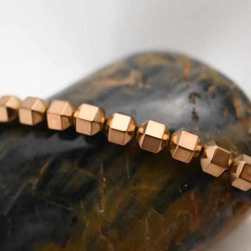 厂家供应黑胆石材料项链手链半成品饰品材料可批发跨境热销