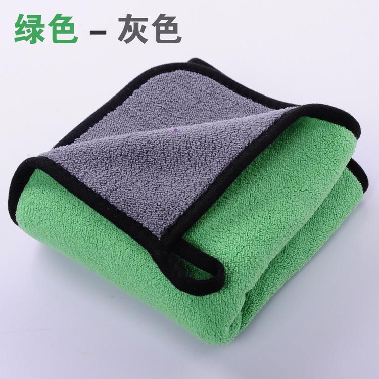 珊瑚绒擦车毛巾批发高密保洁家政加厚双色清洁洗车毛巾可