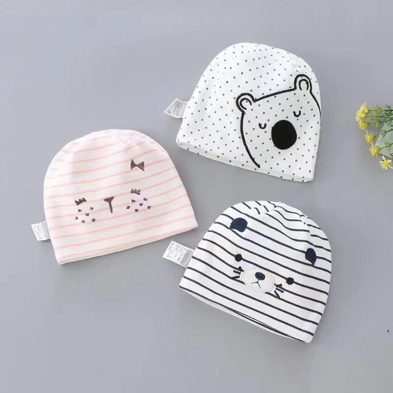双层婴儿帽子,全棉婴儿韩版帽子