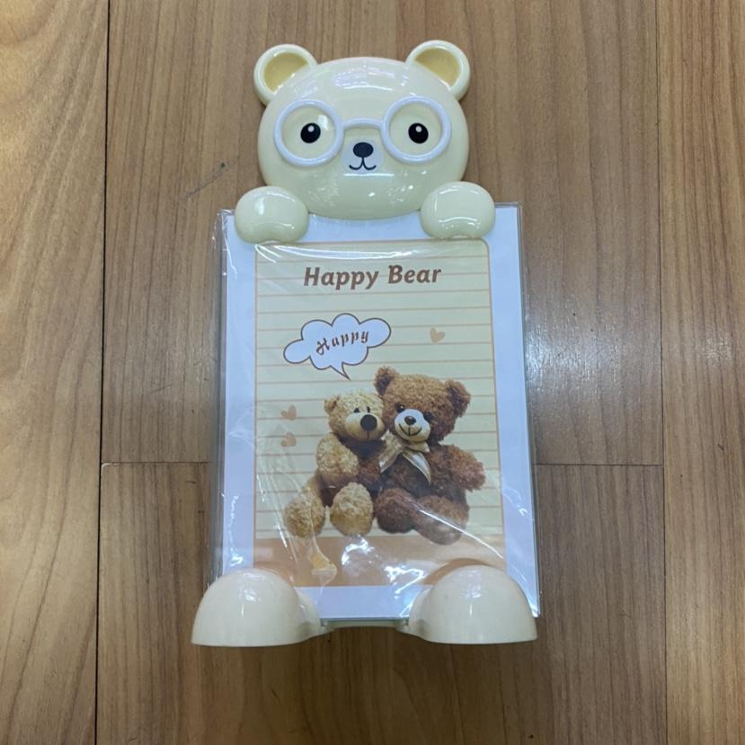 米黄可爱熊照片架