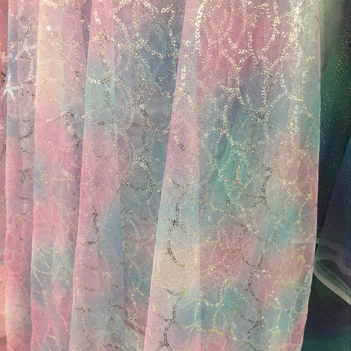 鱼纹彩虹网布