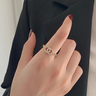 高级感轻奢小众设计戒指女ins潮网红时尚个性指环小香风食指戒指 CL01313-30