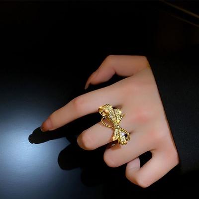 成隆首饰高级感蝴蝶结戒指女个性时尚小众设计开口指环ins潮冷淡风食指CL01311-40