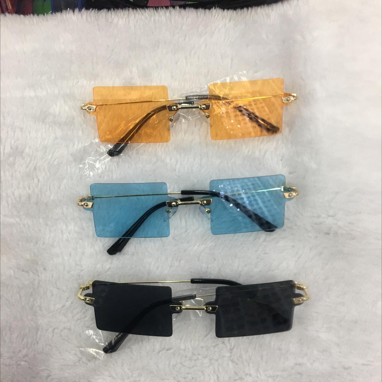无框男女士方框太阳眼镜
