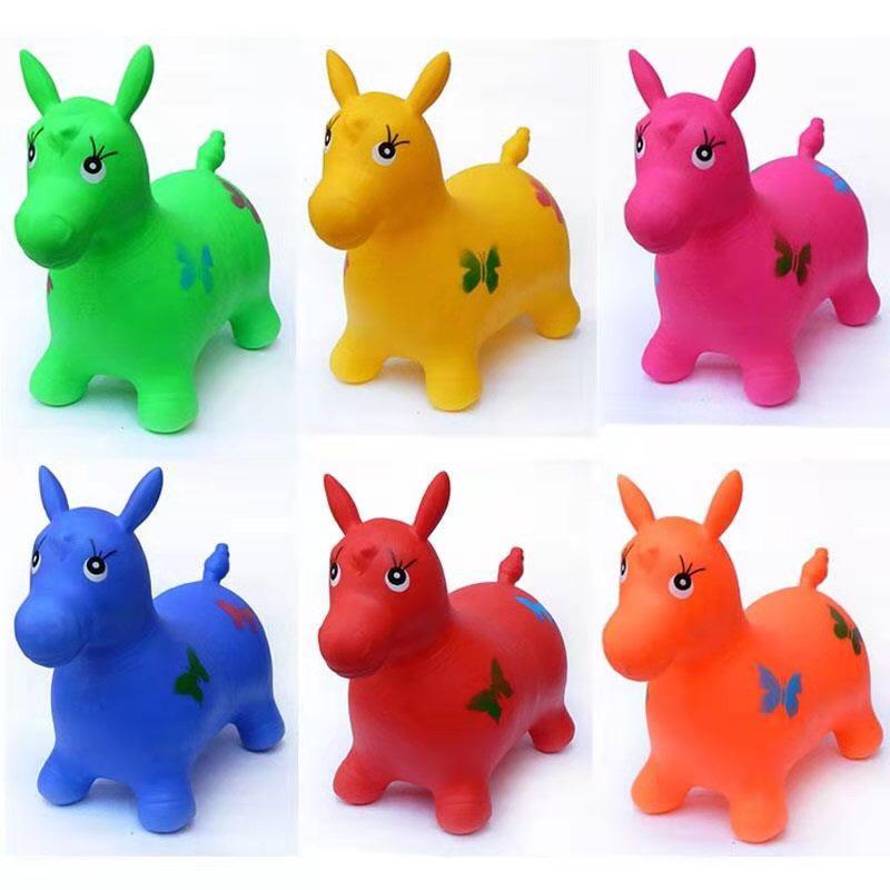 儿童充气玩具跳跳摇摇动物室内外檬胶休闲卡通认知创意玩具