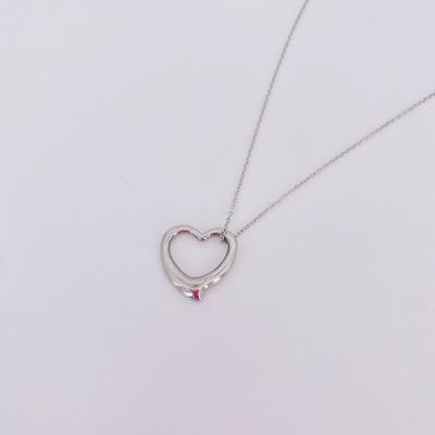 新款时尚镂空爱心不锈钢项链 情侣爱心不锈钢饰品 厂家直销 爱心不锈钢项链