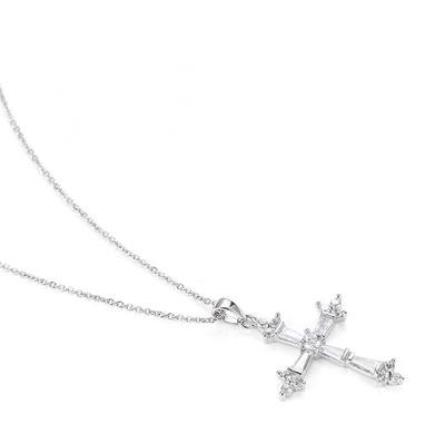 成隆首饰十字架吊坠 欧美时尚气质锆石吊饰 厂家直销C0678-45
