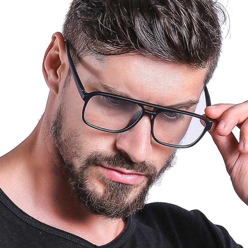 2021欧美男士眼镜双梁复古潮流超轻眼镜架百搭新款全框2430平光镜