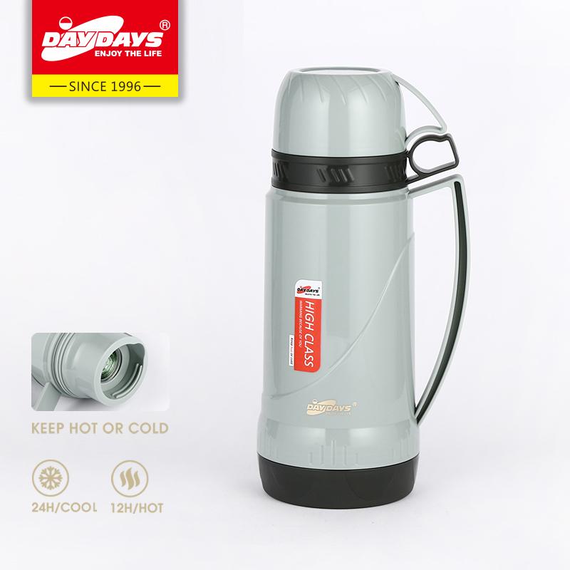DAYDAYS龙凤保温瓶 1.0L  时尚塑料玻璃内胆家用户外便携保温瓶热水瓶