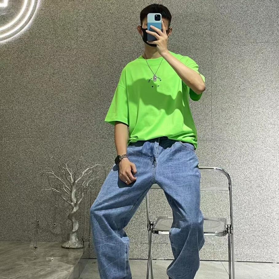 炫彩绿色夏季t恤衫