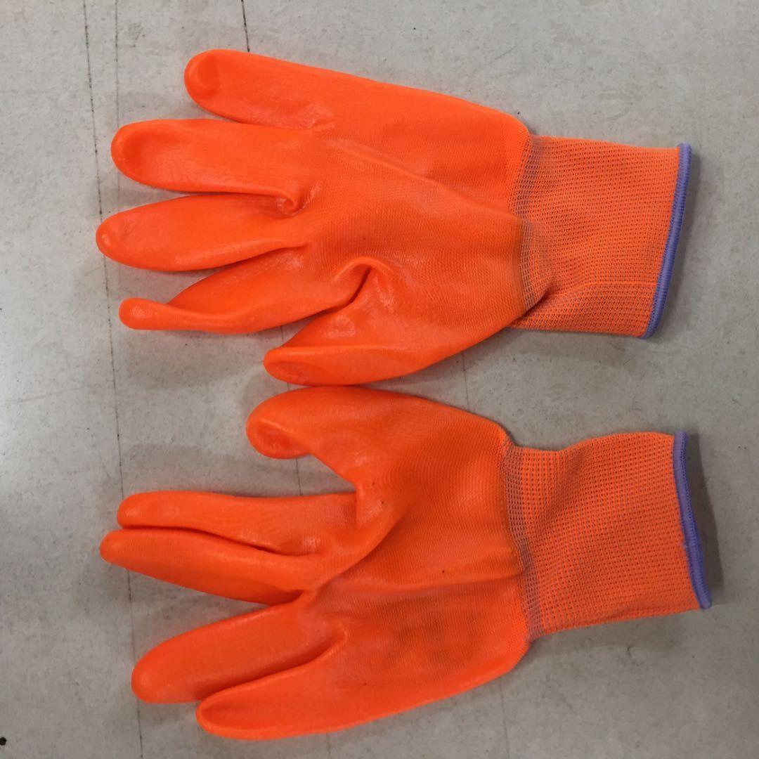 手套劳保浸胶防水塑胶橡胶工业带胶胶皮手套1