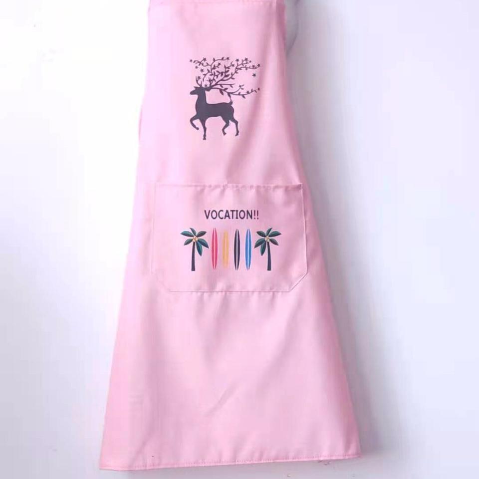 梅花鹿围裙浅粉