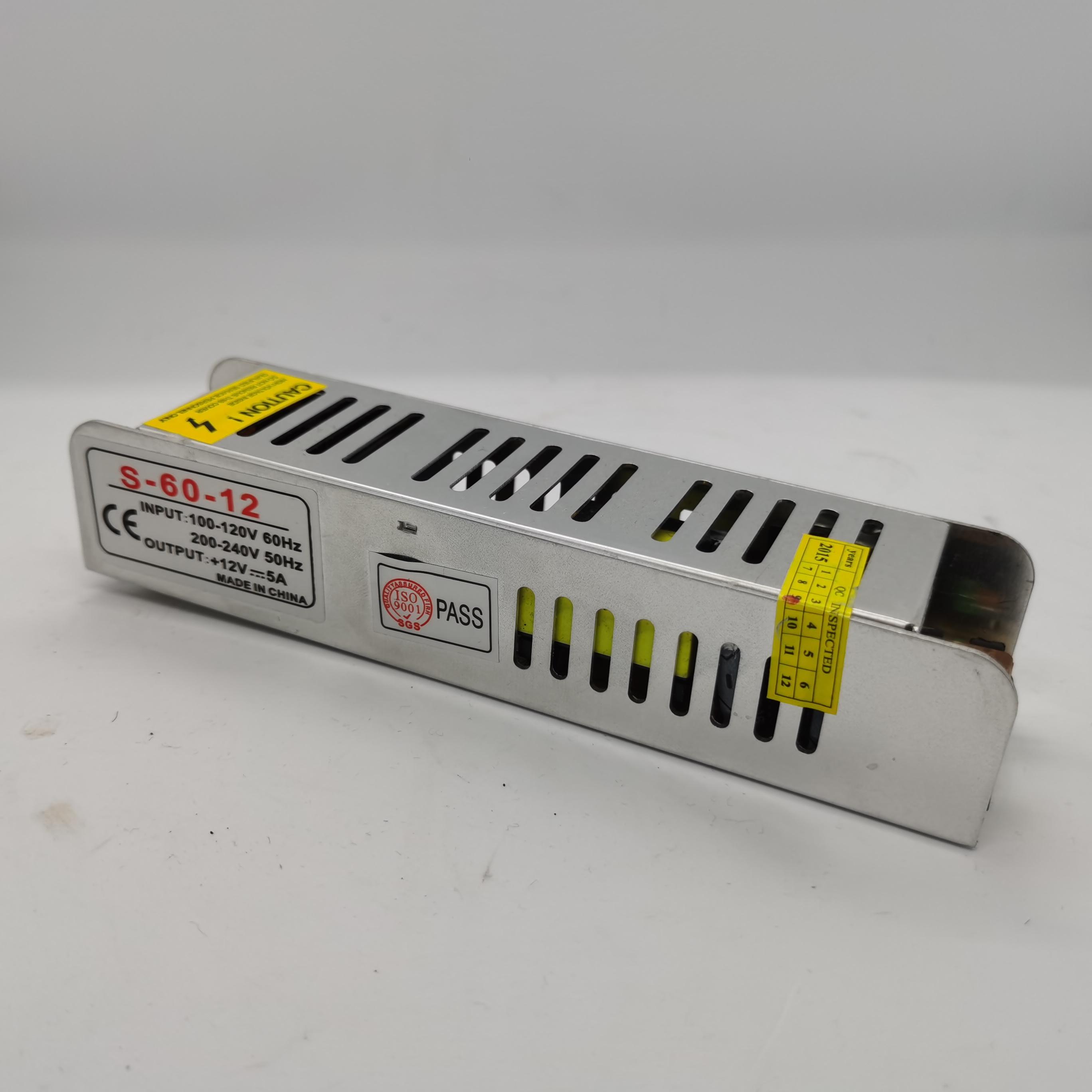 LED灯灯箱专用电源 DC 12V5A  LED长条开关电源 安防/适配器电源