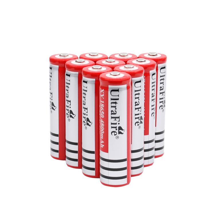厂家直销18650锂电池3.7V大容量头灯风扇平头尖头手电筒充电电池