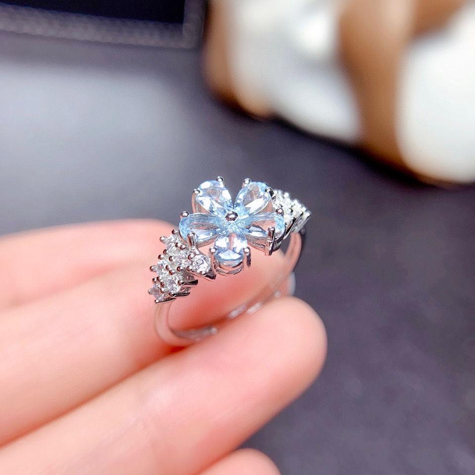 2021新款几何夸张个性满钻锆石戒指合金古银色戒指   60