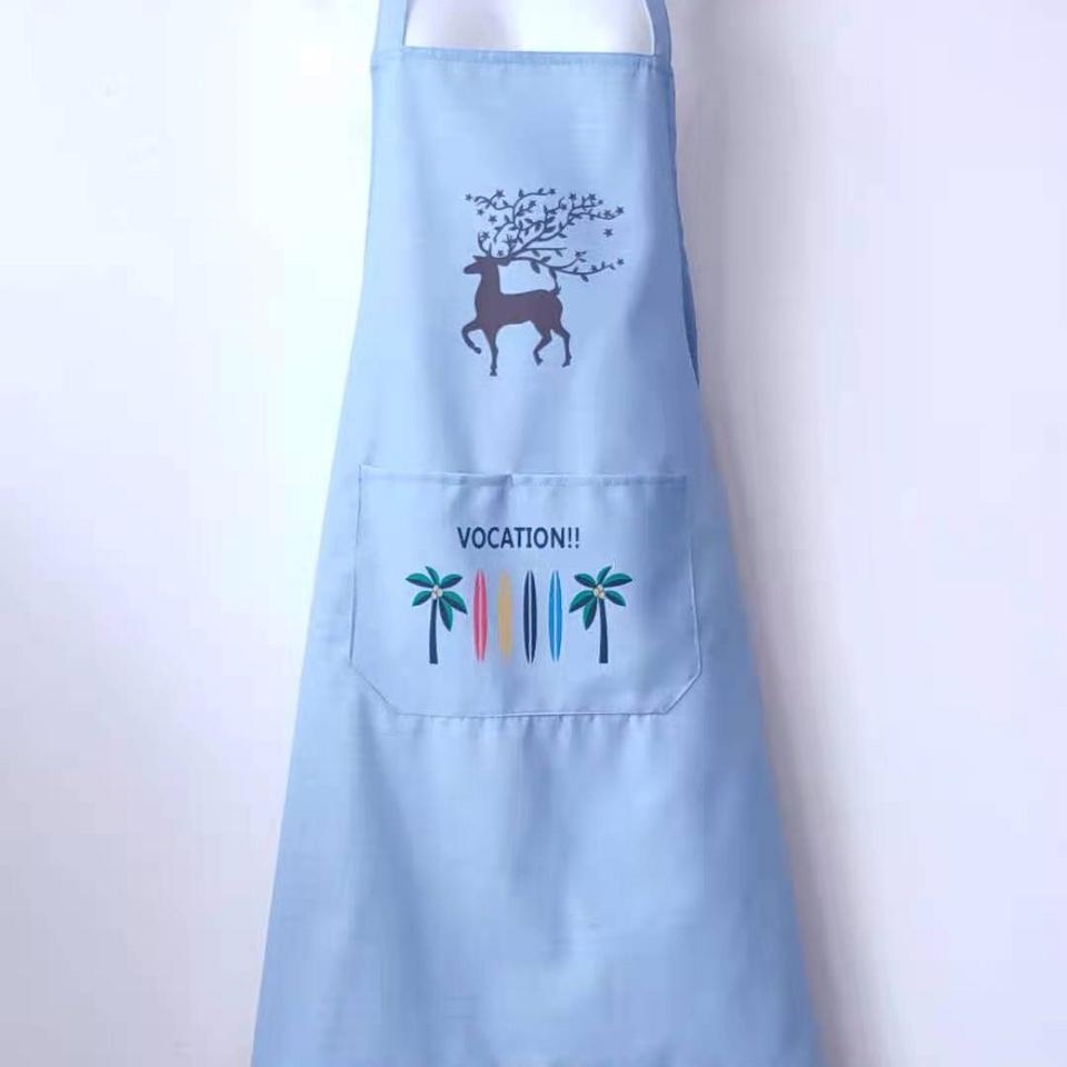 梅花鹿围裙蓝色
