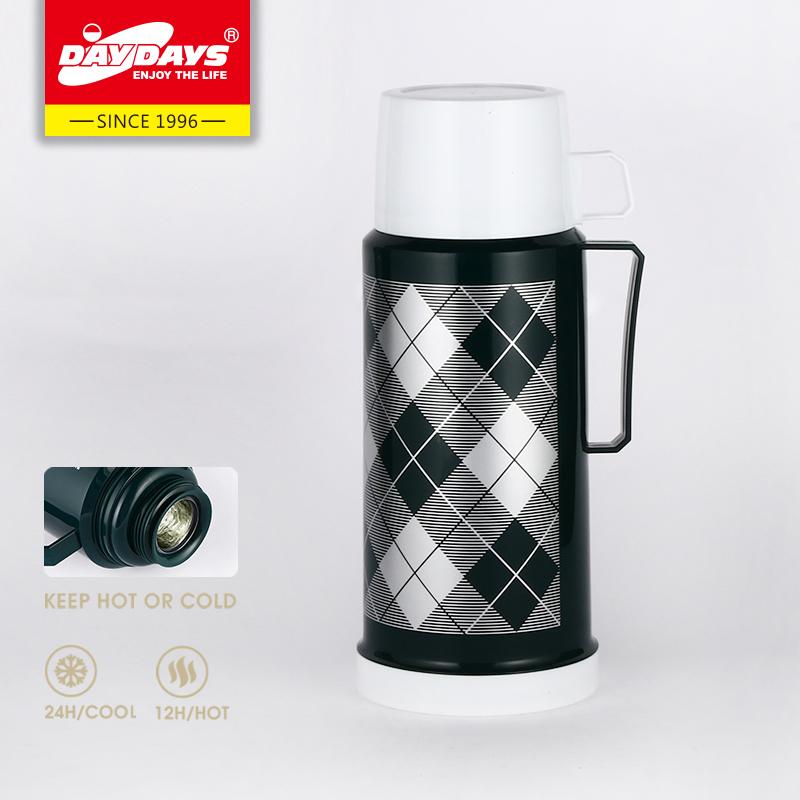 DAYDAYS 龙凤保温瓶 1.0L  时尚塑料玻璃内胆家用户外便携保温瓶热水瓶
