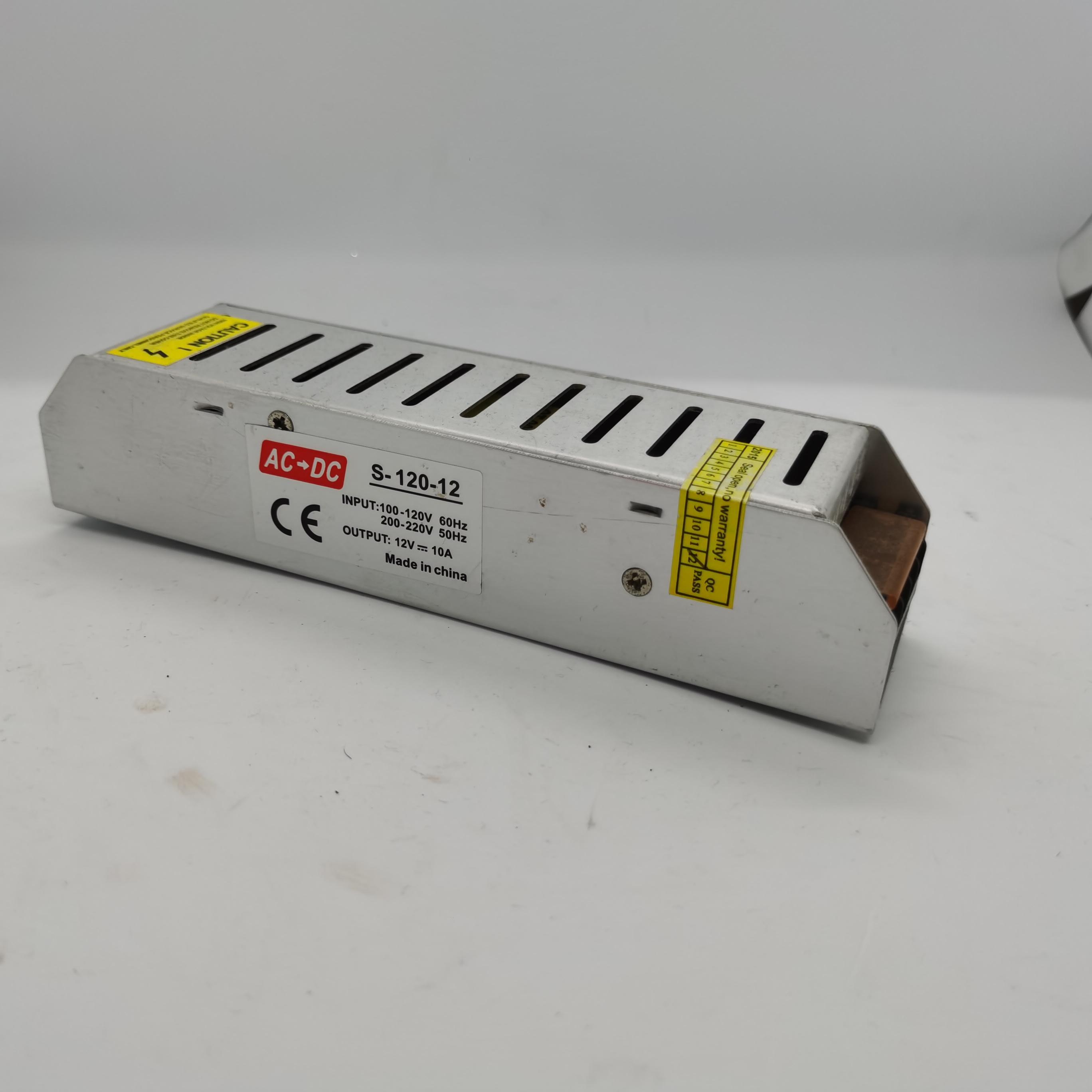 LED灯灯箱专用电源 DC 12V10A  LED长条开关电源 安防/适配器电源