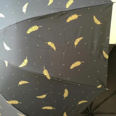H426三折伞商务伞黑胶遮阳伞晴雨伞...