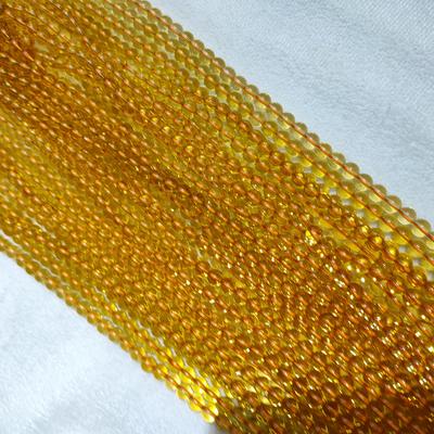 4mm黄水晶圆珠半成品