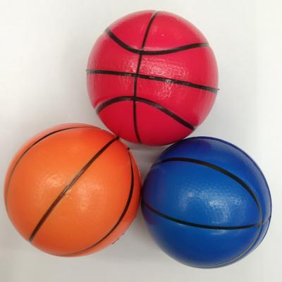 PU发泡篮球减压玩具6.3cm