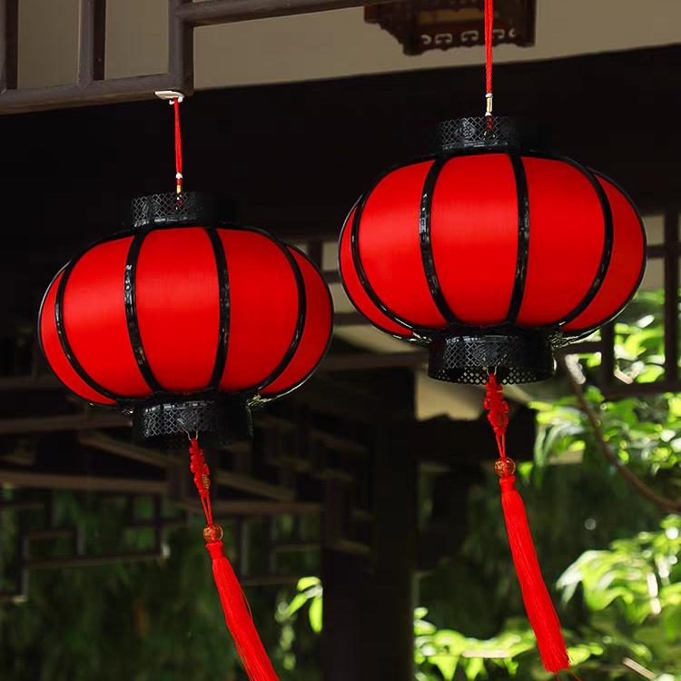仿古塑料手提电池灯装饰舞台春节防晒防雨灯