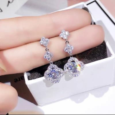 韩版满钻石耳钉