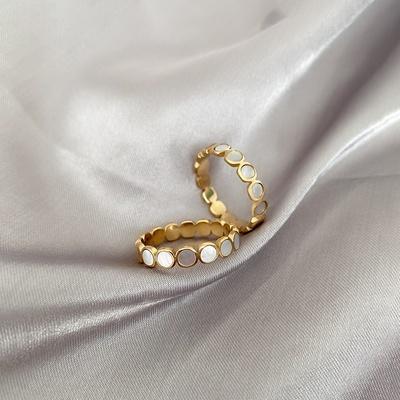 贝壳戒指女小众设计轻奢网红食指戒时尚...