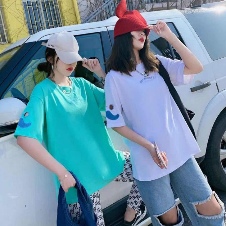 AMD--2021夏季新款短袖圆领上衣韩版显瘦T恤上衣5Q2127501