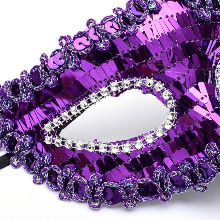 万圣节化妆舞会表演面具威尼斯彩绘羽毛半脸蕾丝美女公主珍珠面具1